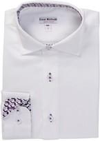 Isaac Mizrahi Contrast Trim White Shirt (Toddler, Little Boys, & Big Boys)