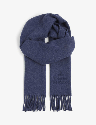 Vivienne Westwood Logo-embroidered wool scarf