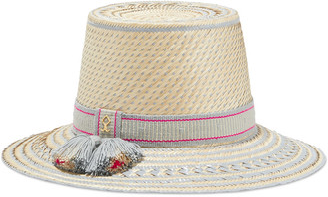Yosuzi Nena Tassel-trimmed Woven Straw Hat