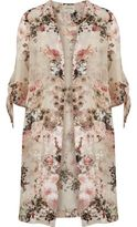 River Island Womens Light pink floral tie sleeve kimono