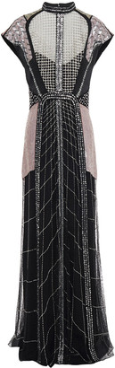 Temperley London Embellished Satin, Tulle And Mesh Gown