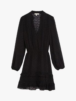 Oasis Dobby Lace Dress, Black