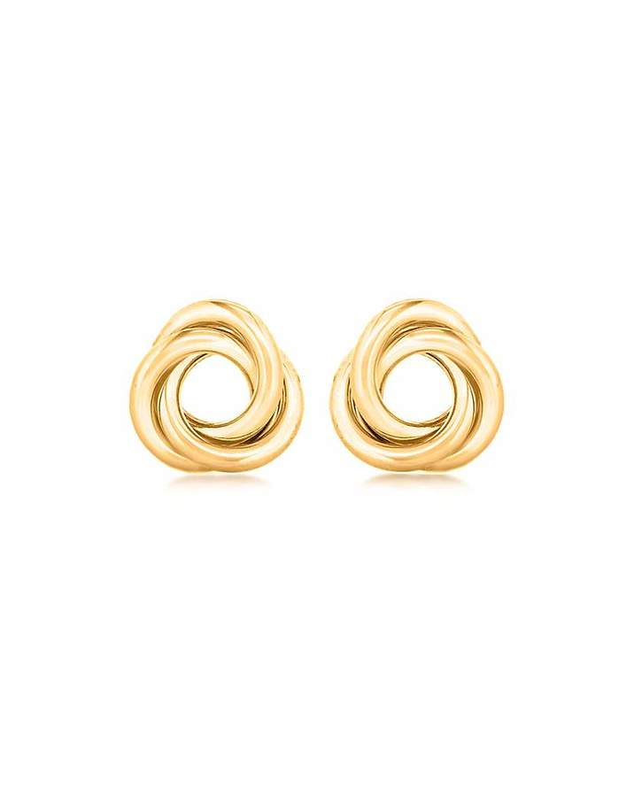 Fashion World 9Ct Gold Linked Ring Stud Earring