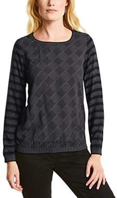 Cecil Women's 340712 Longsleeve T-Shirt, (Black 20001), S