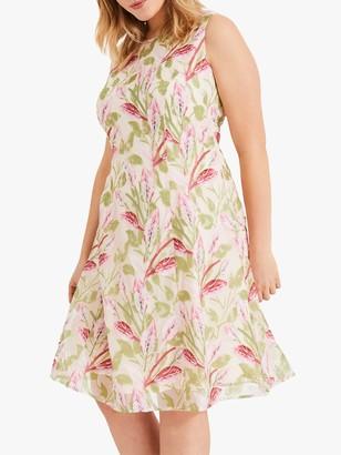 Studio 8 Ursula Flare Floral Embroidered Dress, Blush