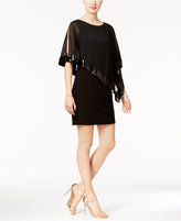 Xscape Evenings X by Sequined Chiffon-Overlay Dress