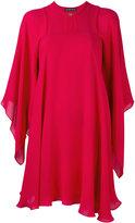 Plein Sud Jeans draped cape dress - women - Silk - 36