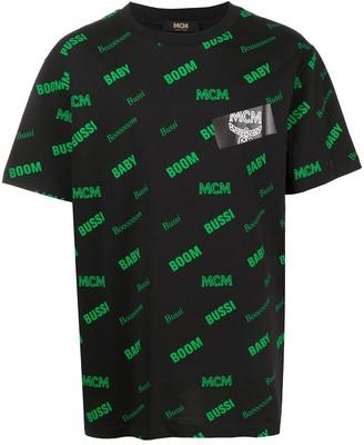 MCM all-over slogan print T-shirt
