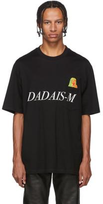 Christian Dada Black Signal Noise Print T-Shirt