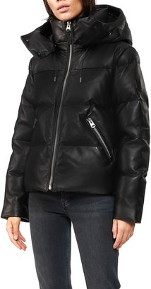 Mackage Tory-DL Hooded Leather 800 Fill Power Down Puffer Jacket