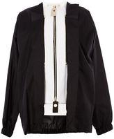 Marni layered zip jacket - women - Silk/Cotton/Spandex/Elastane - 40