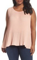 Sejour Plus Size Women's Pleat Shell