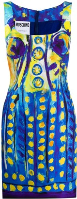 Moschino Painted-Print Mini Dress