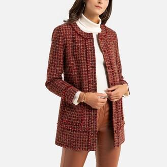 Anne Weyburn Long Woven Jacket