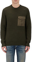 Rag & Bone Men's Elijah Wool Sweater-Dark Green