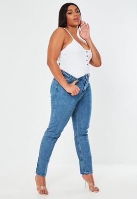 Missguided Size Blue Slim Straight Leg Jeans
