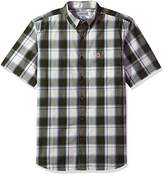 Carhartt Men's Big and Tall Essential Plaid Button Down Collar SS Shirt