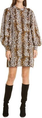 Ulla Johnson Lina Long Sleeve Shift Dress