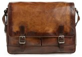 Frye Men's 'Oliver' Leather Messenger Bag - Beige