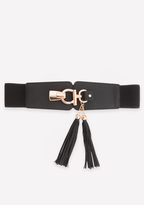 Bebe Tassel Stretch Belt