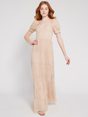 Alice + Olivia Remona Sweetheart Lace Maxi Dress