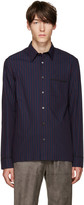 3.1 Phillip Lim Navy & Purple Pyjama Shirt