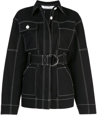 Proenza Schouler White Label PSWL belted utility jacket