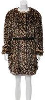 Nina Ricci Leopard Print Faux Fur Jacket w/ Tags