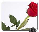 REALMA Single red rose Mouse Pad, Mousepad (Flowers Mouse Pad)