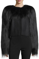 Bottega Veneta Fur-Trim Wool Jacket