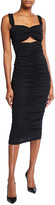Dolce & Gabbana Ruched Bandeau Bodycon Dress