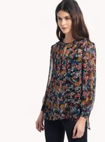 Ella Moss Wildflower Keyhole Top