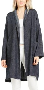 Eileen Fisher Organic Cotton Open-Front Coat, Regular & Petite