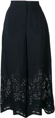 Stella McCartney Lace Detail Wide Leg Trousers