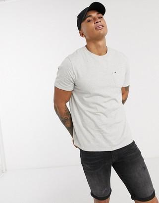 Tommy Hilfiger pocket logo t-shirt in gray