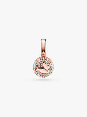 Michael Kors 14K Rose Gold-Plated Sterling Silver Pave Pisces Zodiac Charm