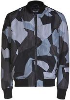 Diesel J-kill Printed Bomber Jacket, Black