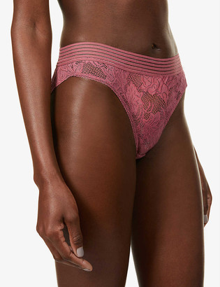 Underprotection Gilda mid-rise stretch-lace briefs