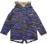 Kenzo Tiger Stripe Cotton Parka Coat 4-16 Years