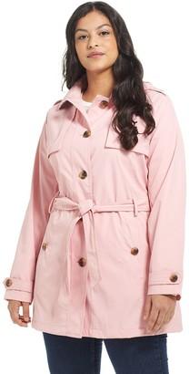 Plus Size Weathercast Hooded Windbreaker Jacket