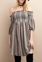 Easel Olive Boho Dress