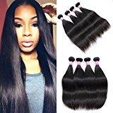 Mink Hair Brazilian Straight Hair 4 Bundles (22 24 26 28) Virgin Human Straight Hair Extensions Natural Color