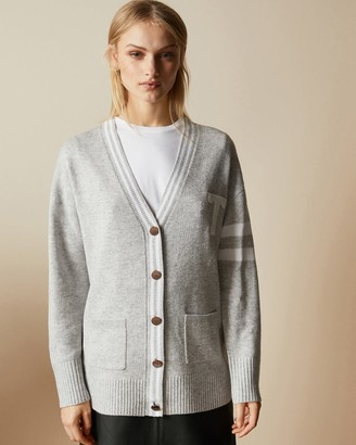 Ted Baker Wool Blend V Neck Cardigan