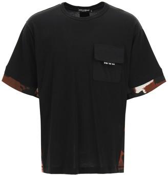 Dolce & Gabbana Camouflage Detailed T-Shirt