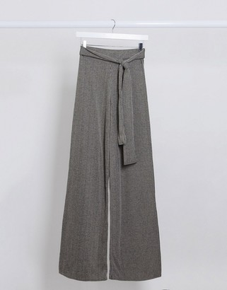I SAW IT FIRST ribbed tie waist pants
