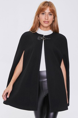 Forever 21 Faux Suede Clasped Cape