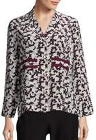 Derek Lam 10 Crosby Long Sleeve Silk Pajama Blouse