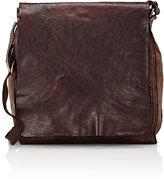 Campomaggi Men's Slim Crossbody Messenger Bag-BROWN