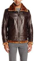 Andrew Marc Men's Pilot Vintage Faux Shearling Jacket