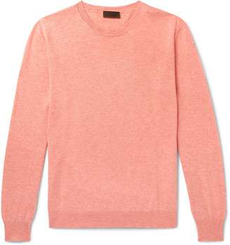 Altea Cotton and Cashmere-Blend Sweater - Men - Orange